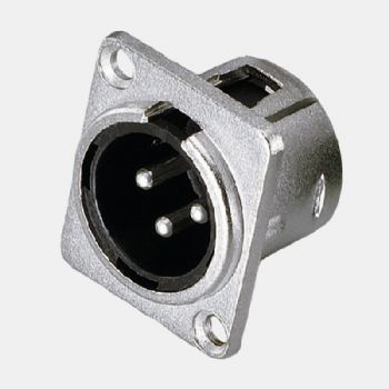 XLR Male Socket Connector
